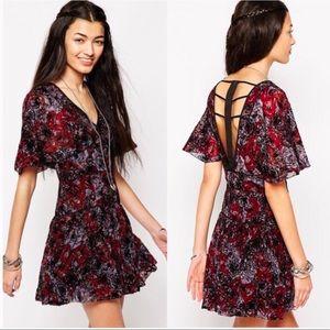Free People Purple & Maroon Perfect Dream Dress